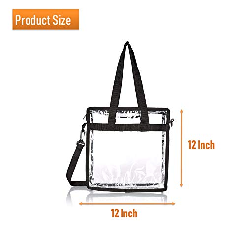 Lify Bags for Less Clear Tote Stadium Approved with Handles And Zipper 12 inch x 12 inch x 6 inch- 1 Piece (Baby Pink)