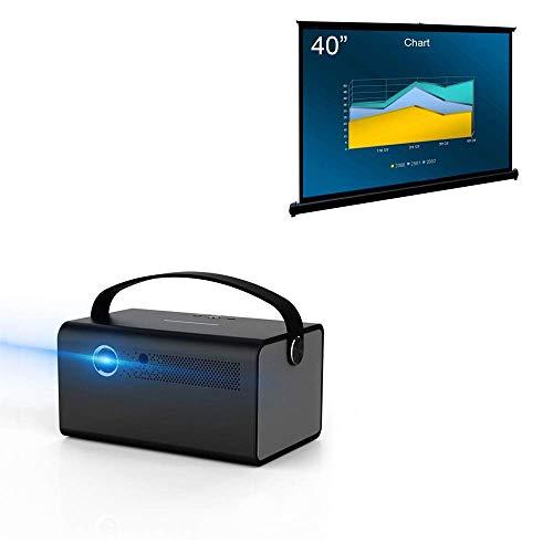 """Cocar 3D DLP Projector V7丨Portable 40"""" Projection Screen"""