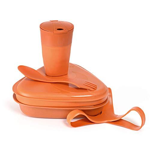 Light My Fire Camping Geschirr Set - 5 Teilig Salat to Go Box - Brotdose Erwachsene mit Camping Besteck - 100% BPA Frei Plastikgeschirr Wiederverwendbar - Lunch Box fürs Büro - Kinder Brotdose