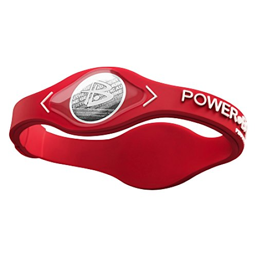 Power Balance Silicone Armband, Red w/White, L, IWSA09RD00WTLP
