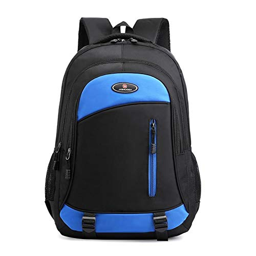 REBKW 2021 Male Backpack Large Business Men Backpack Oxford Laptop Backpack Waterproof School Shoulder Bags Male Backpack(Blue)