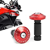 Topes de Manillar - 2 Piezas Contrapesos Manillar con 3 Adaptadores Aluminio Perillas Topes de Manubrios para Motocicleta MTB Bicicleta Carrera