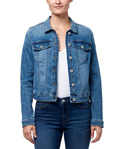 CHAPS Jeans Women's Plus Size Classic Denim Jean Jacket, Neiva, 2X