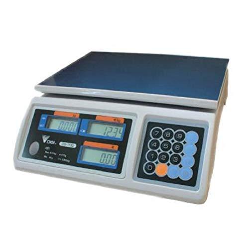 Ladenwaage Digi DS-700 - Marktwaage geeicht ab Werk bis 6kg (1 | 2g genau) - Thekenwaage/Verkaufswaage