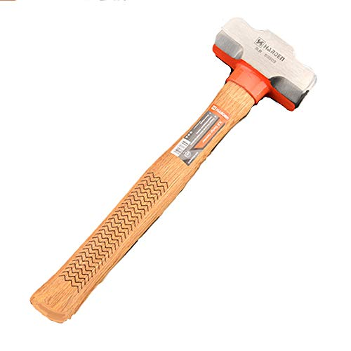 Edward Tools Pro 3 Pound Sledge Hammer - Heavy Duty Harden Steel Mini Sledge Hammer for Drilling, Chisels, Nail, Rebar, Kindling Crack Hammer - Solid Anti Reverberation Oak Handle