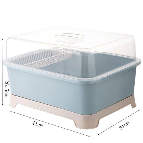 ZWL Rack de stockage de coutellerie, multifonctions antipoussière mode concis économiser espace cuisine boîte de rangement égouttoir égouttoir multicolore avec la taille de la couverture: 41 * 31 * 26.5 cm , une bonne aide pour le stockage de la cuisine ( Couleur : #3 )