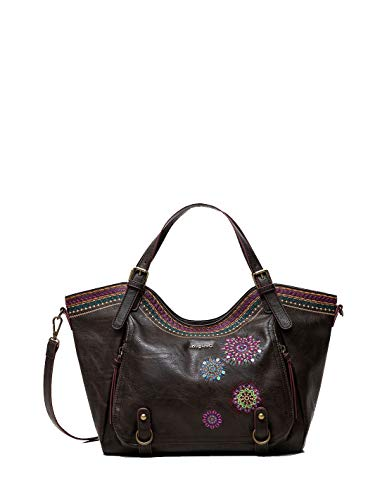 Desigual Accessories PU Shoulder Bag, Bolso bandolera. para Mujer, marrón, U