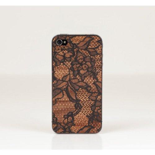Lazerwood Anne Marie Jackson Lace 22140 - Cover in Legno per Apple iPhone 5/5S, Inclusa Pellicola Protettiva per Lo Schermo