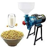 Molinillo de alimentos eléctrico Molinillo de grano húmedo y seco fresado 110v Refinador Molino y pulper 2in1 Rectificadora con embudo..