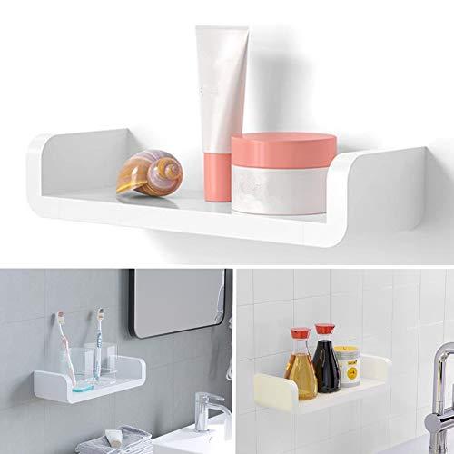xingguang Estante de baño blanco estante organizador de almacenamiento estantes de pared de plástico impermeable estante de almacenamiento accesorios para baño organizador