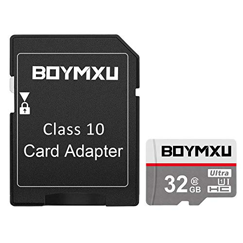 TF Memory Card 32GB,BOYMXU TF Card with Adapter,High Speed UHS-I Card Class 10 Memory Card for Phone Camera Computer-Update