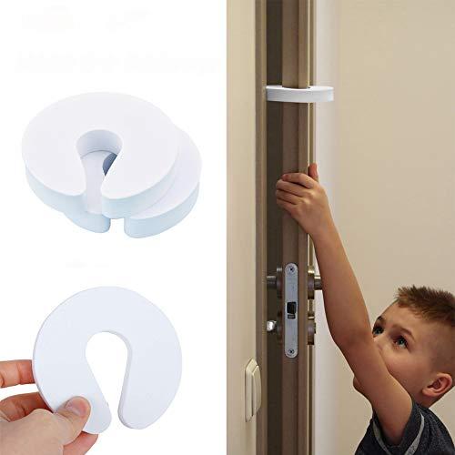 ドアストッパー ドアロック ベビーガード チャイルドロック ストッパー 白 赤ちゃん ペット玄関 室内 指はさみ 防止 4個入り