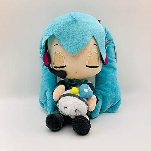 Nueva figura de anime de Hatsune Peluches Hatsune Miku Serie VOCALOID Gran conejo blanco Nota musical Hatsune Miku Plush Doll