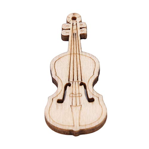 ICUTEDIY 10 Stück Gitarrenzauber Holzgitarre Hängen Anhänger Vintage Retro Violine Verzierung Dekoration