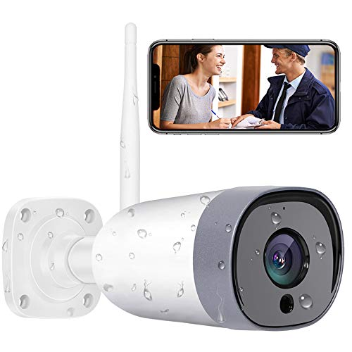 Mibao Cámara de Vigilancia WiFi Exterior, IP66 a Prueba de