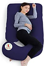 Mom's Moon Premium Softness Pregnancy Pillow for Pregnant Women with 100% Cotton Zipper Removable Cover Standard Pack of 1...