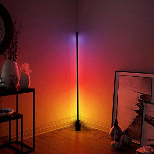 WLGQ Lámpara de pie LED Moderna Que Cambia de Color RGB Regulable Luces de pie Coloridas Minimalismo Iluminación de decoración del hogar con Control Remoto para el hogar Sala de Estar Dormitorio