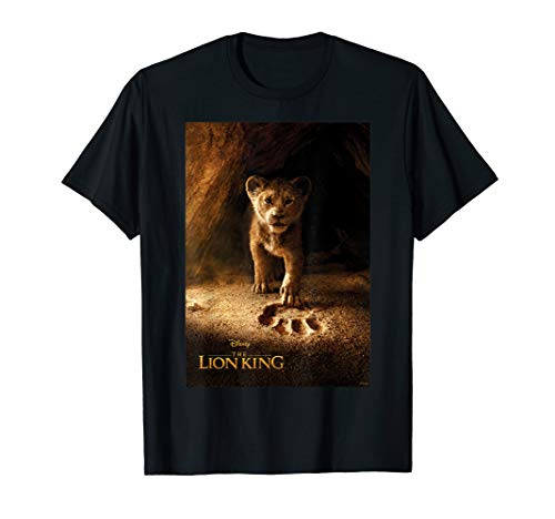 Disney Lion King Young Simba Footprint Poster T-Shirt