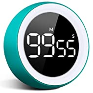 UNZANO Digital Kitchen Timer - 99 Minutes and 55 Seconds LED Display Visual Timers for Autism, Food, Cooking, Game, Fitness, Meeting, Countdown Timer for Kids Time Management (Blue)