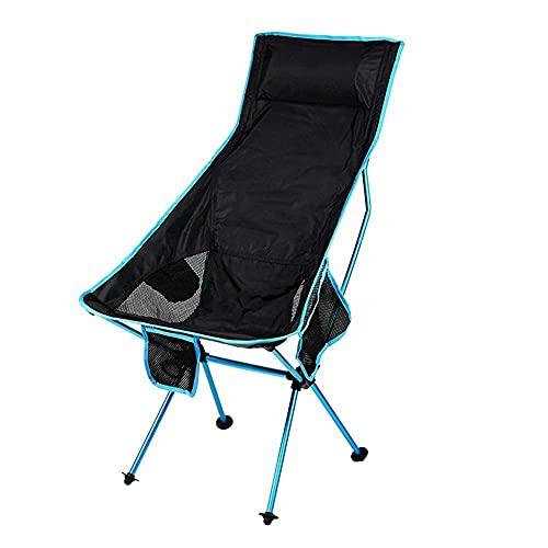 FLZXSQC Silla Plegable Duradera Liviana y Plegable Ligero Plegable de la Silla de Camping de Alta Espalda, para Campamento al Aire Libre, Viajes, Picnic