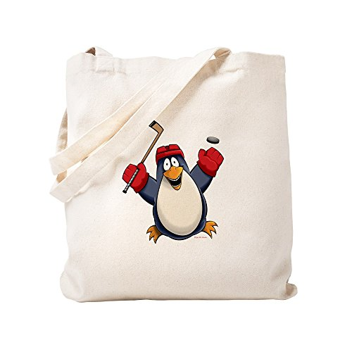 CafePress Hockey-Pinguin-Tragetasche, canvas, khaki, S