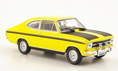 Opel Kadett B Coupe, gelb/schwarz (ohne Magazin), 1965, Modellauto, Fertigmodell, MCW-SC40 1:43