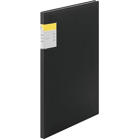 キングジム クリアファイル カキコ A4 縦 20P 黒 8632クロ