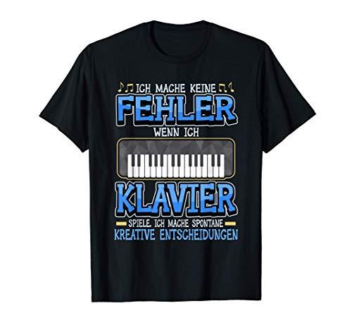 Klavier Pianist Flügel Tastatur Instrument Piano Geschenk T-Shirt