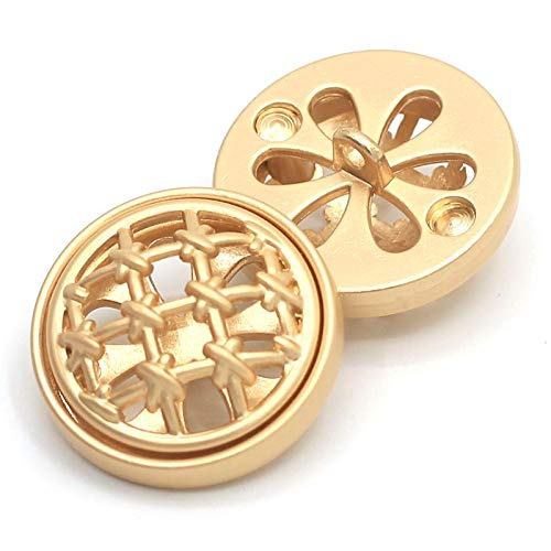 8 Stks Holle Metalen Blazer Knopen -23mm Goud Naaien Schacht Knop Set voor Blazer, Suits, Sport Jas, Uniform, Jas 23mm