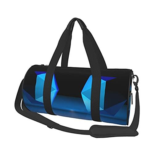 Bolsa de viaje de forma abstracta, ligera, suave y duradera, de gran capacidad, portátil, cilíndrica, para entrenamiento deportivo, bolsa de ocio