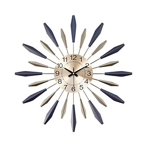 Reloj de Pared Creativo, Nordic Morden Metal Art Reloj de Pared Gran Mecanismo de Barrido Silencioso de Cuarzo Reloj de Pared Fácil de Leer Silencioso para Cocina Dormitorio Sala de Estar Oficina