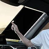 ConPush parasole auto parabrezza interno Parasole per Auto Parasole per la Parabrezza Anteriore Auto Protezione Parabrezza Protettore Contro i Raggi UV Pieghevole e Portabile Parasole Parabrezza (L)