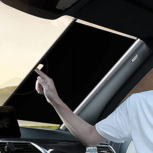 parasole auto elettrico ConPush parasole auto parabrezza interno Parasole per Auto Parasole per la Parabrezza Anteriore Auto Protezione Parabrezza Protettore Contro i Raggi UV Pieghevole e Portabile Parasole Parabrezza (L)