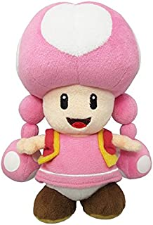 """Little Buddy USA Super Mario All Star Collection 7.5"""" Toadette Plush"""