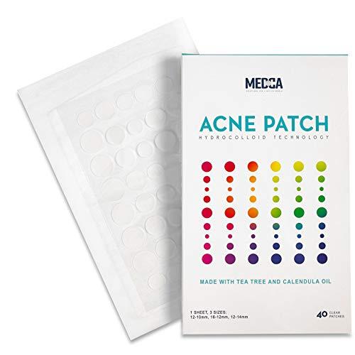 Parche para cubrir el acné - (40 cuentas) Tratamiento de espinillas y granos - Vendaje hidrocoloide, árbol de té, aceite de CICA y caléndula, los parches.