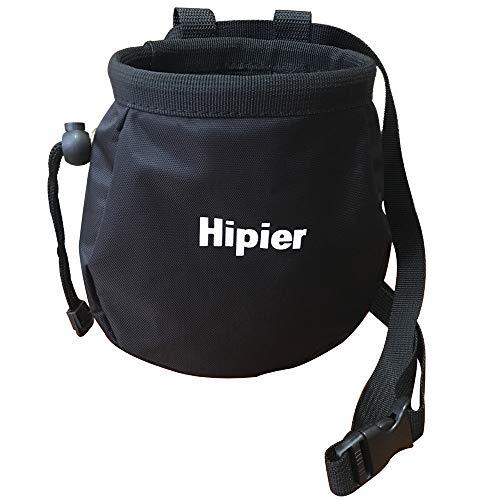 Chalkbag für Klettern Fitnessstudio bouldern Gewichtheben Turnen Magnesiabeutel mit Reißverschlusstasche und Gürtel