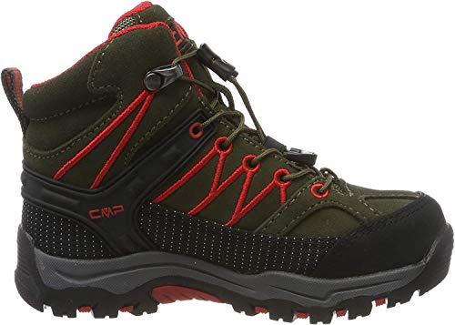 CMP Unisex-Kinder Kids Rigel Mid Shoe Wp Trekking- & Wanderstiefel, Grün (Loden-Ferrari 05fd), 38 EU