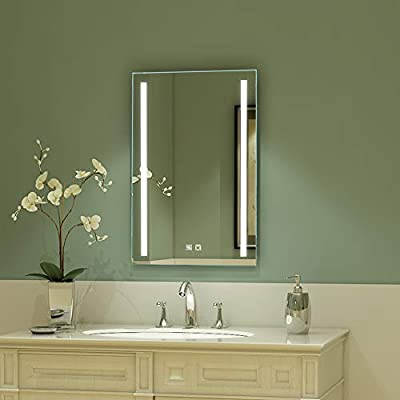 ExBrite LED Mirror Bathroom Lighted dimmable Anti-Fog Bright for Makeup Night Light