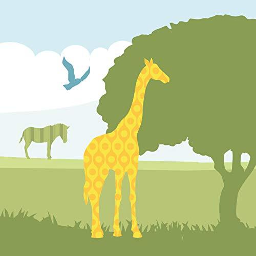 anna wand Bordüre selbstklebend HELLO AFRIKA - Wandbordüre Kinderzimmer/Babyzimmer mit Afrika-Tieren - Wandtattoo Schlafzimmer Mädchen & Junge, Wanddeko Baby/Kinder