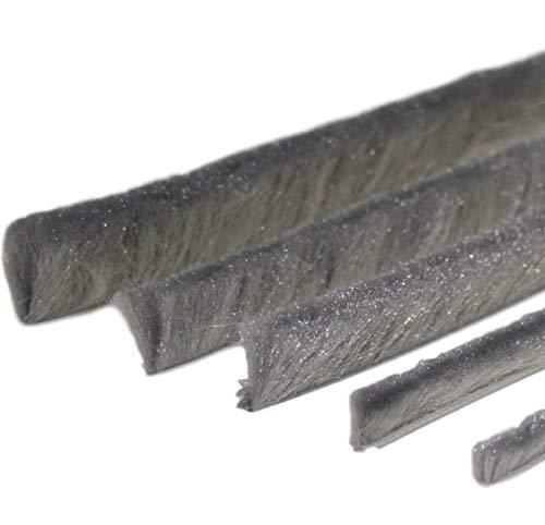 Bürstendichtung Meterware mit Nut von 5mm bis 25mm für Fliegengitter Dichtung Fenster Türen Insektenschutz Rolladen Rolläden mit Nut (5, 4,8 x 20mm)
