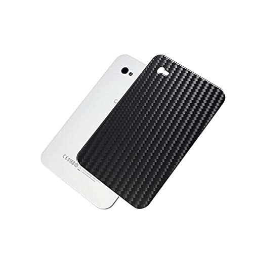 VacFun 2 Piezas Protector de pantalla Posterior, compatible con SAMSUNG GALAXY Tab SC-01C / GT-P1000 P1010 7', Película de Trasera de Fibra de carbono negra Skin Piel