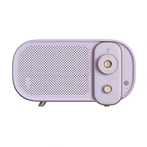 BMDHA Altavoz Bluetooth Potente,Altavoces PortáTil Mini InaláMbrica, Altavoces Bluetooth Retro Coche con EstéReo Bluetooth Sonido Radiio FM Voz Inteligente Conveniente