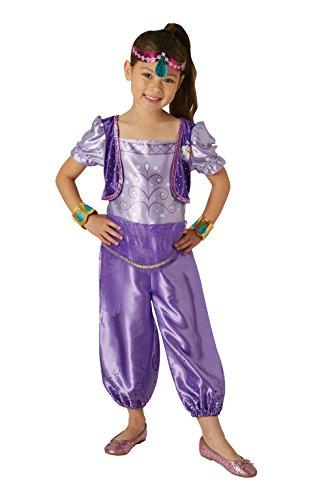 Shimmer & Shine - Disfraz de Shimmer para niña, infantil 5-6 años (Rubies 630716-M)