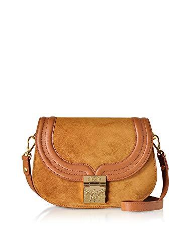 MCM Luxury Fashion Damen MWS8STS94CO001 Braun Leder Schultertasche | Frühling Sommer 20