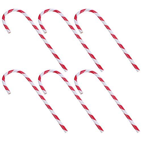 STOBOK Zuckerstangen Stift Bleistift Weihnachten Dekorative Stifte 6 Stück Neuheit Schreibwaren Weihnachtsstrumpf Füller Studenten Kinder Erwachsene Büro Schule Party Mitbringsel Stil A