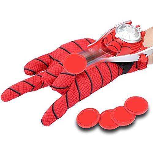 Yisimo Niños Superhero Lanzador Guantes Cosplay Glove Spider-Man Launcher Muñeco Toys Shooter Toy Regalo para el cumpleaños Día de los Niños