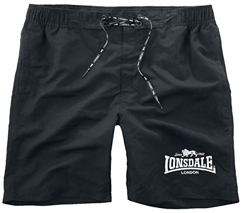 Lonsdale London Mens NAUNTON Shorts, Black, Large