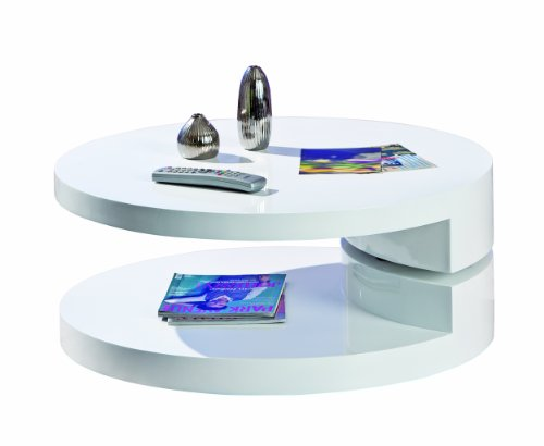 Links - Round A4 - Tavolino. Dim: 80x80x33 h cm. Col: Bianco. Mat: MDF.