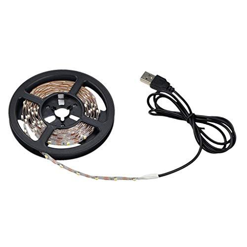 oshhni Luz de Tira de Luz LED Blanca Cálida de 0,2 M, Iluminación para Armario de Cocina, 5 V 2835