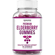 Havasu Nutrition Elderberry Gummies - Supports Immune System Health - Made with Plant-Based Pectin - NO Gelatin, NO Fructose Corn Syrup, Gluten Free - Natural Ingredients, 60 Gummies